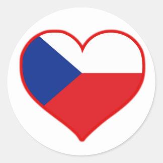 Czech Love Classic Round Sticker