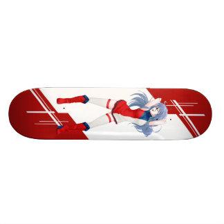 Czech Manga girl dressed in Flag - Skateboard Decks