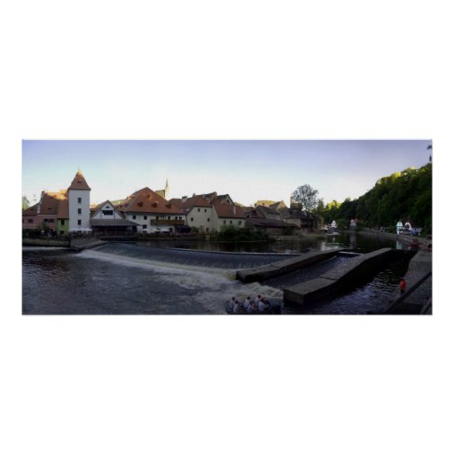 Czech panoramic picture print