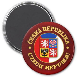 Czech Republic 3 Inch Round Magnet