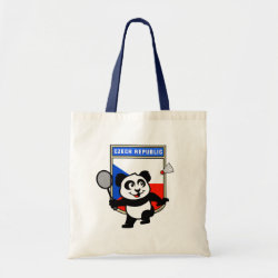 Budget Tote with Czech Republic Badminton Panda design