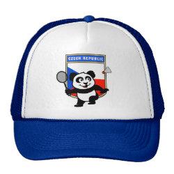 Trucker Hat with Czech Republic Badminton Panda design