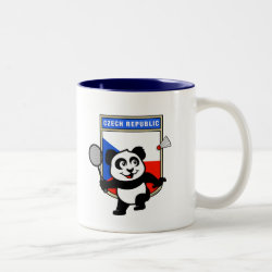 Two-Tone Mug with Czech Republic Badminton Panda design