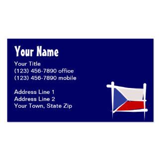 Czech Republic Brush Flag Business Card Templates