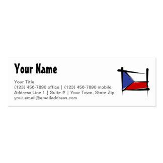 Czech Republic Brush Flag Business Cards