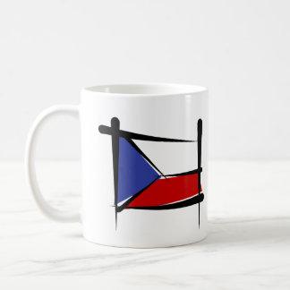 Czech Republic Brush Flag Coffee Mug