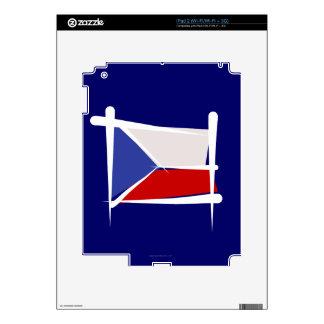 Czech Republic Brush Flag Decal For iPad 2