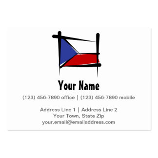 Czech Republic Brush Flag Large Business Card