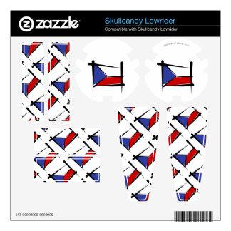 Czech Republic Brush Flag Skullcandy Decal