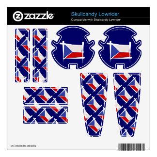 Czech Republic Brush Flag Skin For Skullcandy
