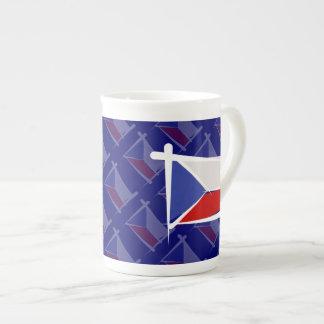 Czech Republic Brush Flag Tea Cup