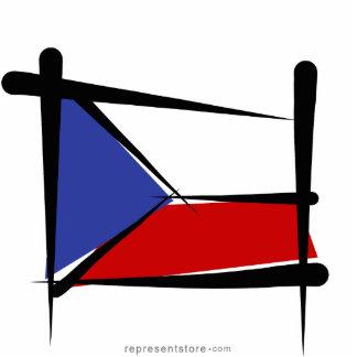 Czech Republic Brush Flag Statuette