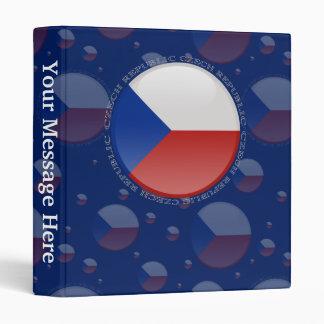 Czech Republic Bubble Flag Binder