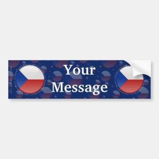 Czech Republic Bubble Flag Car Bumper Sticker