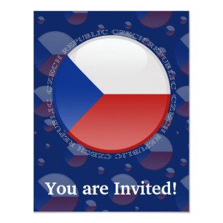 Czech Republic Bubble Flag Card