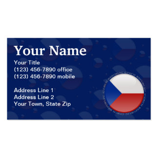 Czech Republic Bubble Flag Double-Sided Standard Business Cards (Pack Of 100)