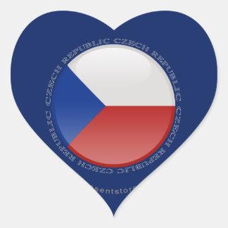 Czech Republic Bubble Flag Heart Sticker