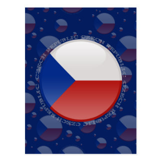 Czech Republic Bubble Flag Postcard