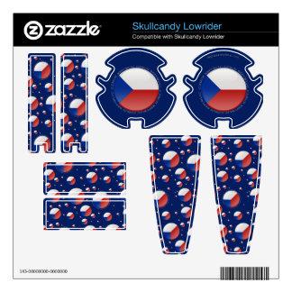 Czech Republic Bubble Flag Skullcandy Skins