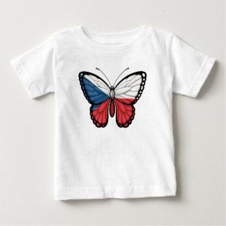 Czech Republic Butterfly Flag Baby T-Shirt