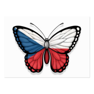 Czech Republic Butterfly Flag Business Cards