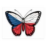 Czech Republic Butterfly Flag Postcard