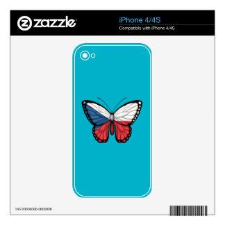 Czech Republic Butterfly Flag iPhone 4S Skins