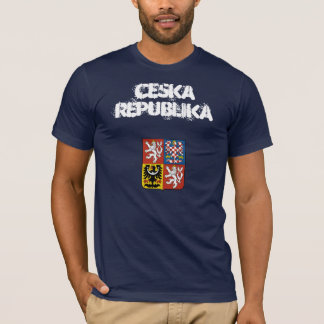 Czech Republic Ceska Republika with coat of arms T-Shirt