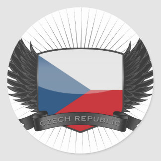 CZECH_REPUBLIC CLASSIC ROUND STICKER