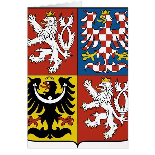 Czech Republic Coat of arms CZ Card