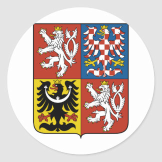 Czech Republic Coat of arms CZ Classic Round Sticker