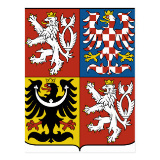 Czech Republic Coat of arms CZ Postcard
