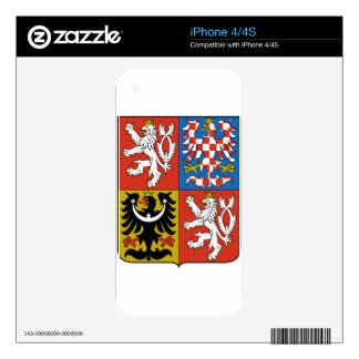 Czech Republic Coat of Arms Decals For iPhone 4