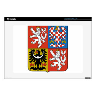 """Czech Republic Coat of Arms Decals For 15"""" Laptops"""