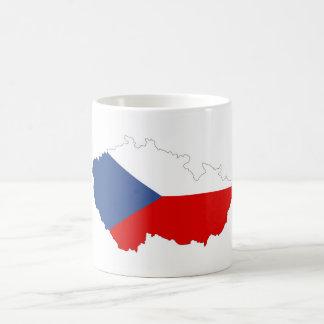 czech republic country flag map coffee mug