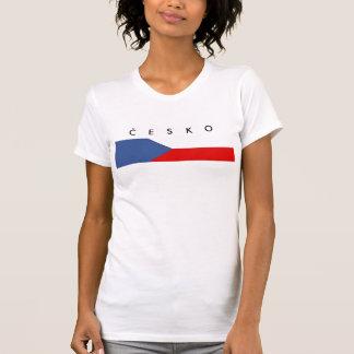 czech republic country long flag nation symbol nam T-Shirt