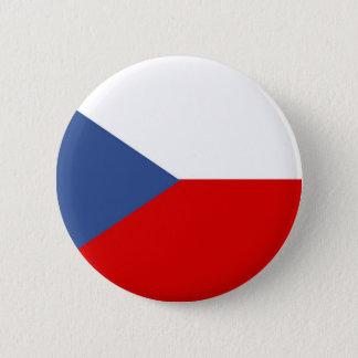 czech republic country long flag nation symbol pinback button