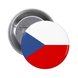czech republic country long flag nation symbol pinback button