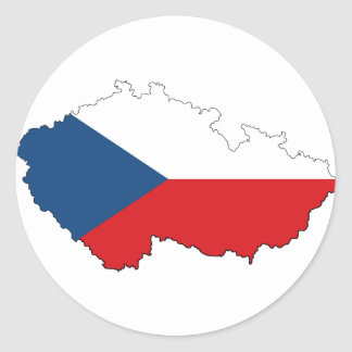 Czech Republic CZ Classic Round Sticker