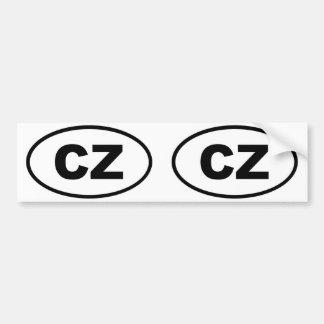 Czech Republic CZ European oval Bumper Sticker