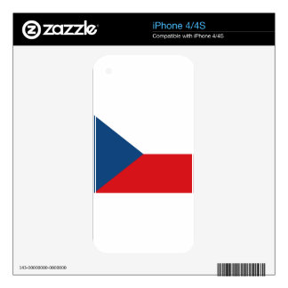 CZECH REPUBLIC DECALS FOR iPhone 4S