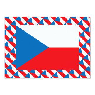 Czech Republic Flag 5x7 Paper Invitation Card