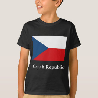 Czech Republic Flag And Name T-Shirt