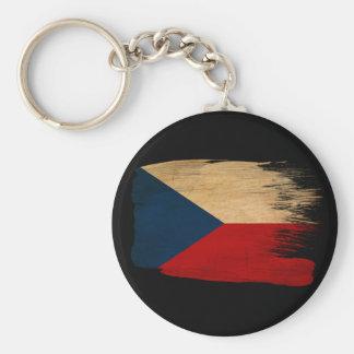 Czech Republic Flag Basic Round Button Keychain