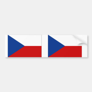 Czech Republic Flag Bumper Stickers