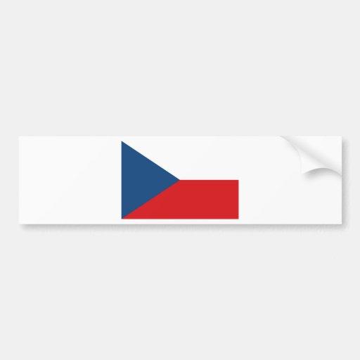 Czech Republic Flag Car Bumper Sticker