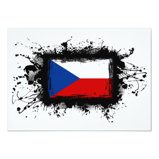 Czech Republic Flag Card