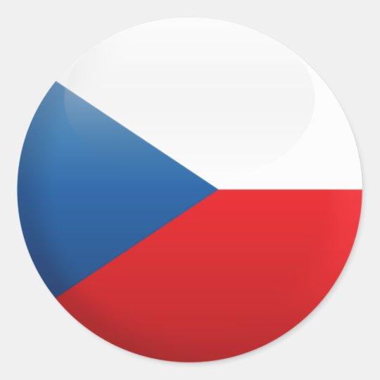 Flag of Czech Republic Round Keyring Keychain