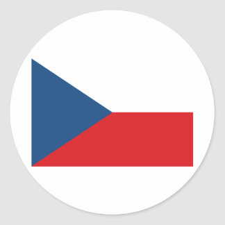 Czech Republic Flag CZ Classic Round Sticker