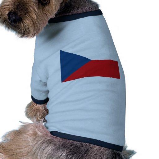 Czech Republic Flag CZ Dog T-shirt